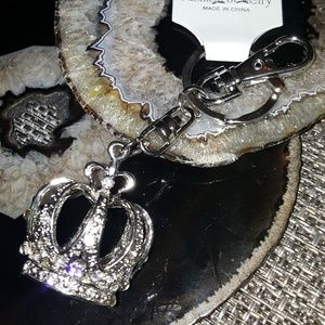Accessories - Crystal Studded Silver Royal Crown Keychain - NEW!